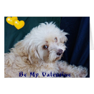 Cute pup Pino the Pineapple Kid Valentine greeting Greeting Card