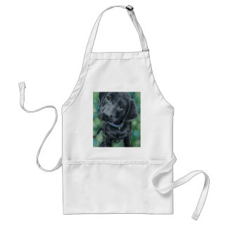 Cute puppy adult apron
