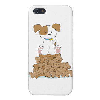 Cute Puppy and Bones Cover For iPhone 5