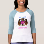 Cute Puppy and Butterfly Friendship Womens T-Shirt Tee Shirts