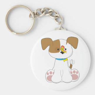 Cute Puppy and Butterfly Key Chain