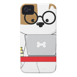 Cute Puppy and Laptop Case-Mate iPhone 4 Case