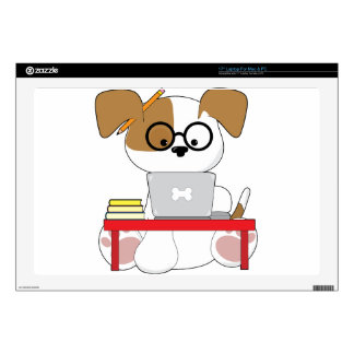 """Cute Puppy and Laptop Decals For 17"""" Laptops"""