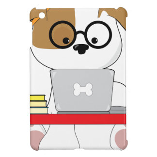 Cute Puppy and Laptop iPad Mini Cover