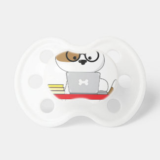 Cute Puppy and Laptop Pacifier
