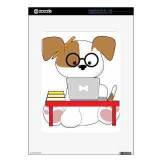 Cute Puppy and Laptop Skin For The iPad