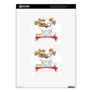 Cute Puppy and Laptop Xbox 360 Controller Decal