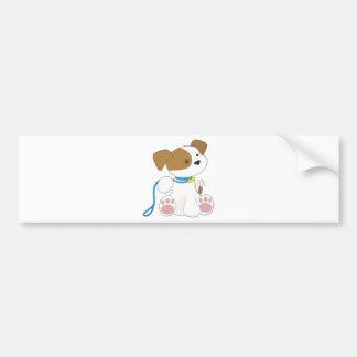 Cute Puppy and Leash Bumper Sticker