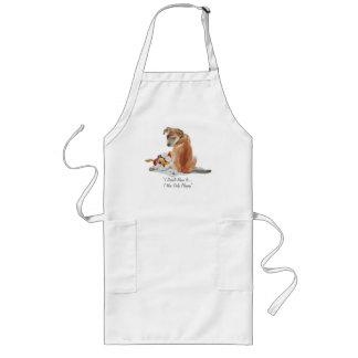 Cute puppy and teddy realist dog art apron