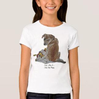 Cute puppy and teddy realist dog art kids t-shirt