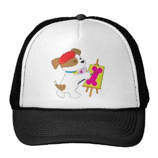 Cute Puppy Artist Trucker Hat