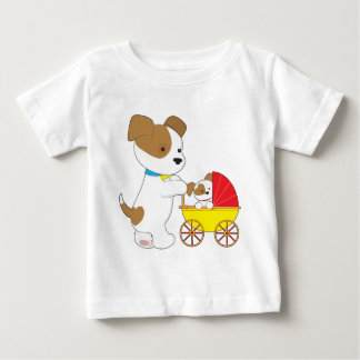 Cute Puppy Baby Carriage Baby T-Shirt