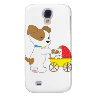 Cute Puppy Baby Carriage Galaxy S4 Cases