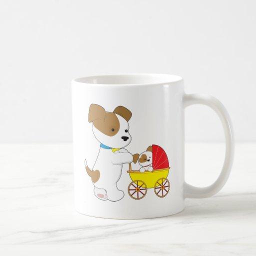 Cute Puppy Baby Carriage Mug