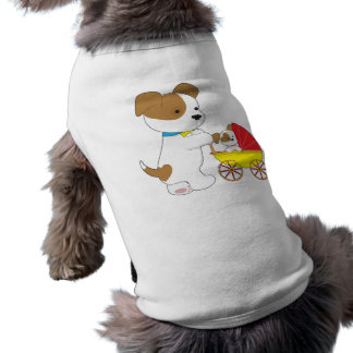 Cute Puppy Baby Carriage T-Shirt