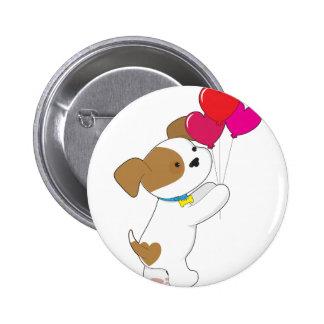 Cute Puppy Balloons Buttons