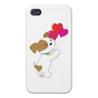 Cute Puppy Balloons Case For iPhone 4