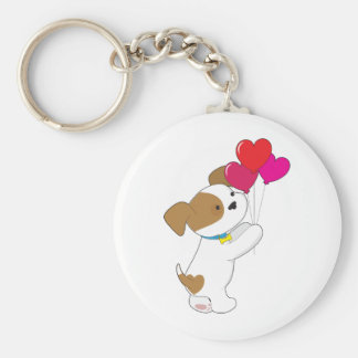 Cute Puppy Balloons Keychain