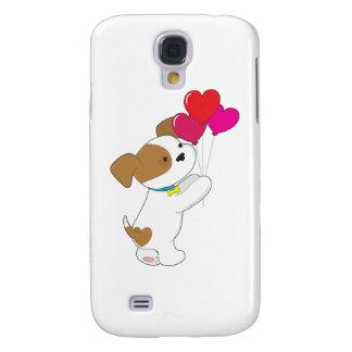 Cute Puppy Balloons Samsung Galaxy S4 Case