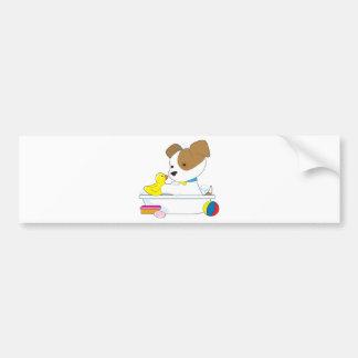 Cute Puppy Bath Bumper Stickers