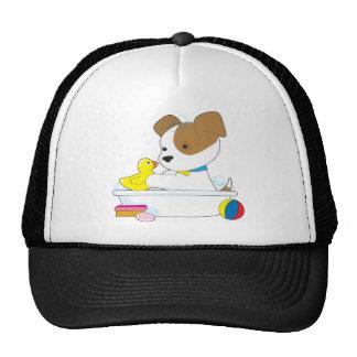 Cute Puppy Bath Trucker Hat