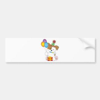 Cute Puppy Birthday Bumper Sticker