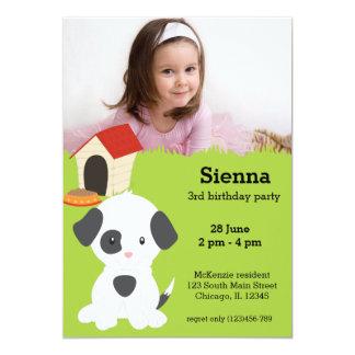 Cute puppy birthday card