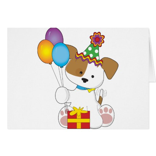 Cute Puppy Birthday Greeting Cards