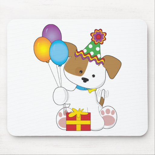 Cute Puppy Birthday Mouse Pad