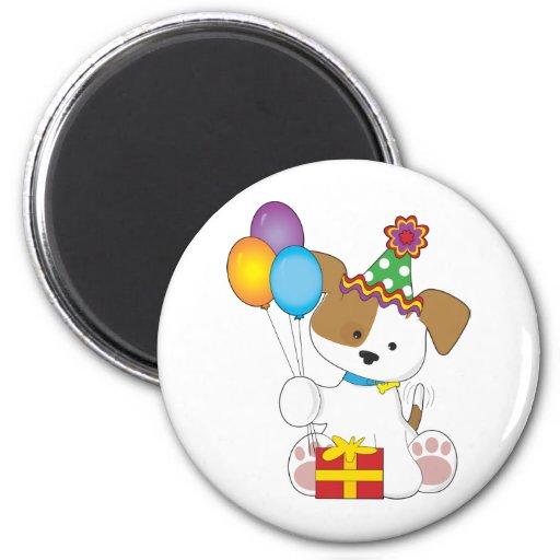 Cute Puppy Birthday Refrigerator Magnet