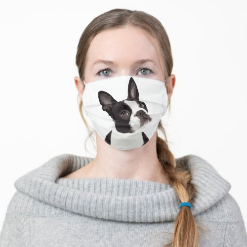 Cute puppy Boston Terrier Dog Adult Cloth Face Mask