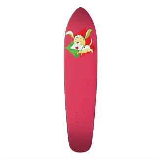 Cute puppy brings love letter on postage stamp skateboard deck