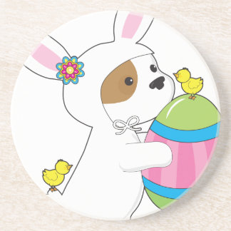 Cute Puppy Bunny Suit Coaster