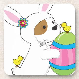 Cute Puppy Bunny Suit Beverage Coasters