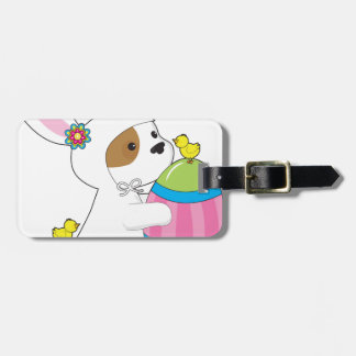 Cute Puppy Bunny Suit Tag For Luggage