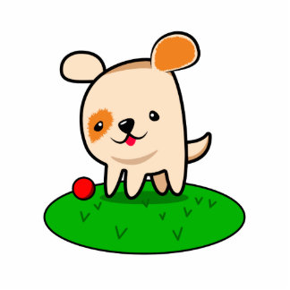Cute puppy cartoon cutout