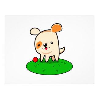 Cute puppy cartoon flyer