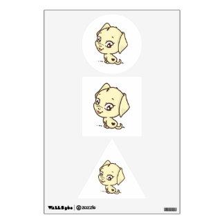Cute puppy cartoon wall decal
