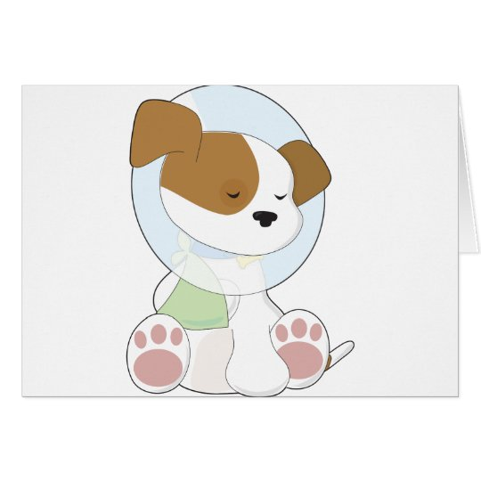 Cute Puppy Cone Card