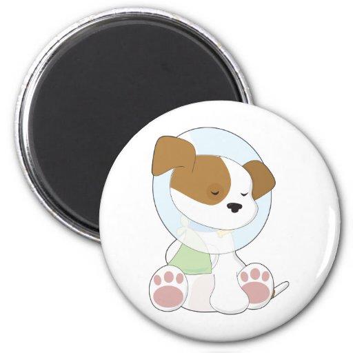 Cute Puppy Cone Fridge Magnet