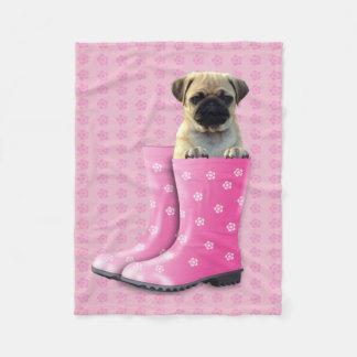 """Cute Puppy Custom Fleece Blanket, 30""""x40"""""""