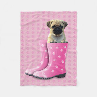 "Cute Puppy Custom Fleece Blanket, 30""x40"" Fleece Blanket"