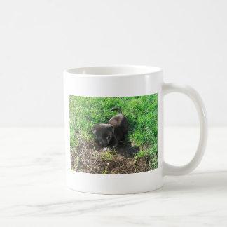 Cute Puppy Digging Himself Into a Hole Coffee Mug