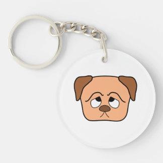 Cute Puppy Dog. Acrylic Key Chain