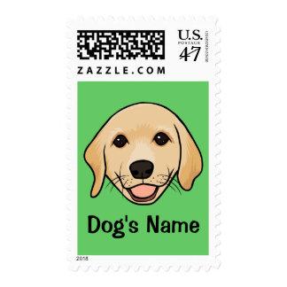 Cute Puppy Dog Art Stamp