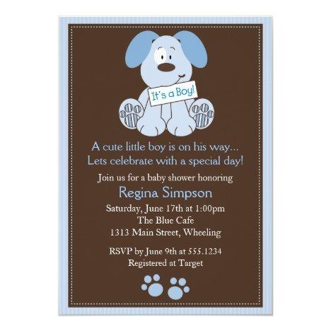 Invitation Blue