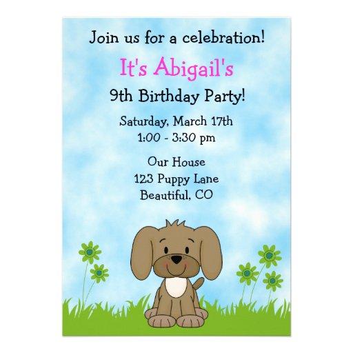 Dog Birthday Party Invitations for adorable invitation design