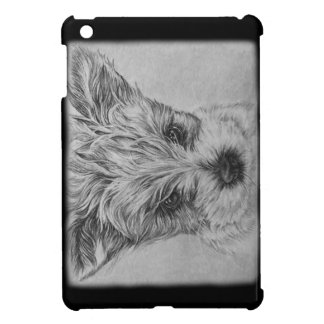 Cute Puppy Dog Drawing of Animal Art iPad Mini Cover
