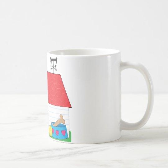 Cute Puppy Dog House Coffee Mug