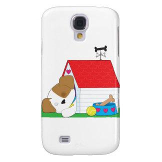 Cute Puppy Dog House Samsung Galaxy S4 Case